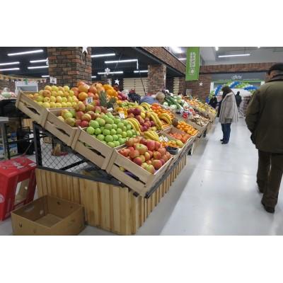 Какие бывают стеллажи для овощей и фруктов