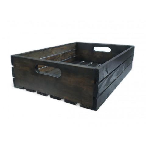Ящик деревянный темный  P01-1
